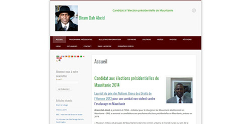 Création de sites internet: site-biram-dah-abeid