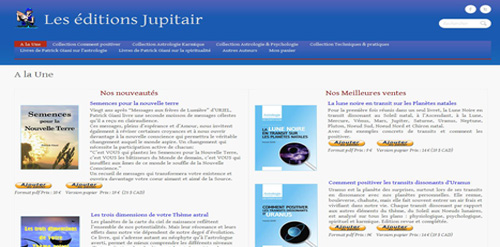 Création de sites internet: site-editions jupitair