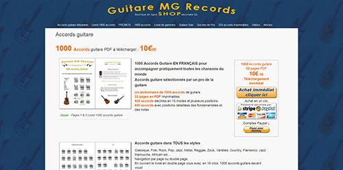 Création de sites internet: site-shop-mg-records