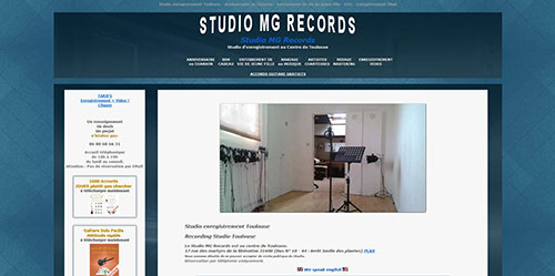 Création de sites internet: site-studio-MG-records