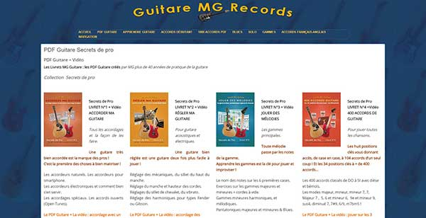 Site internet référencement : site accords-guitare.com