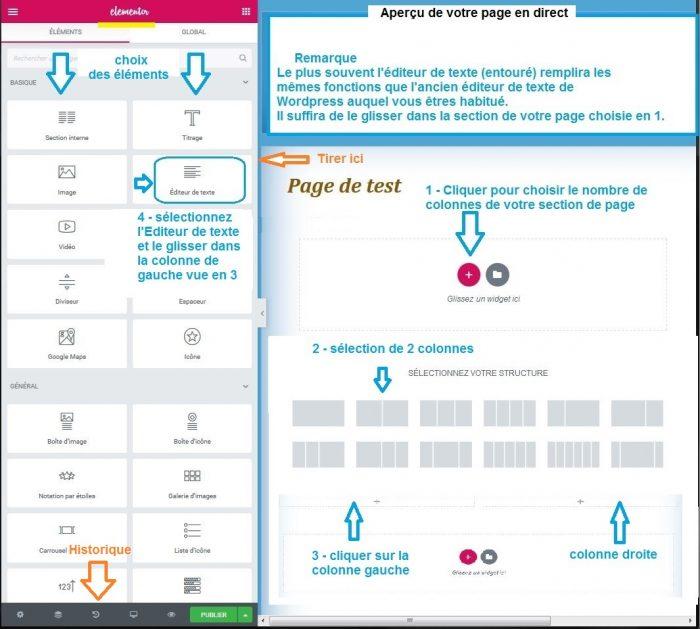 Tutoriel wordpress Créer Page Elementor
